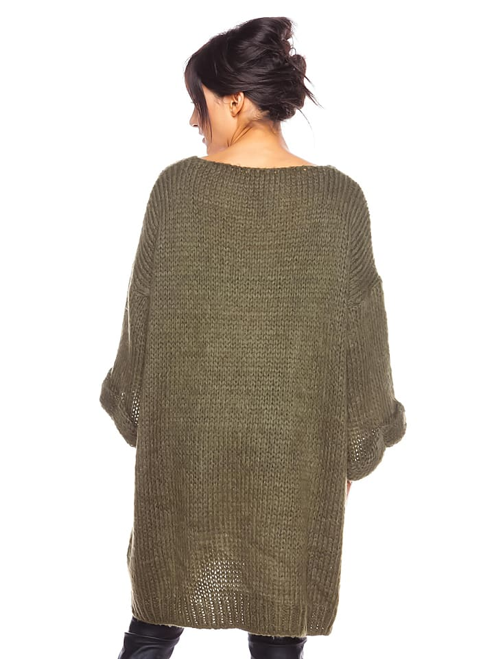"Cosy Winter Pullover ""Melody"" in Khaki"