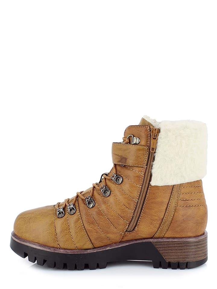"Kimberfeel Winter-Boots ""Romane"" in Hellbraun"