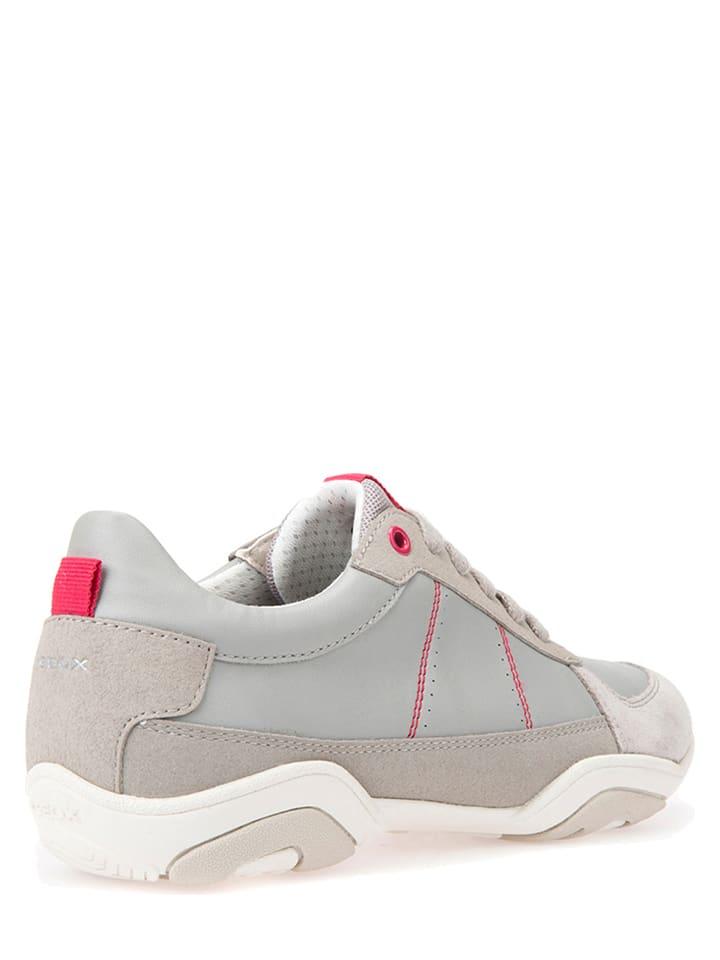 """Geox Leder-Sneakers """"Arrow"""" in Grau"""
