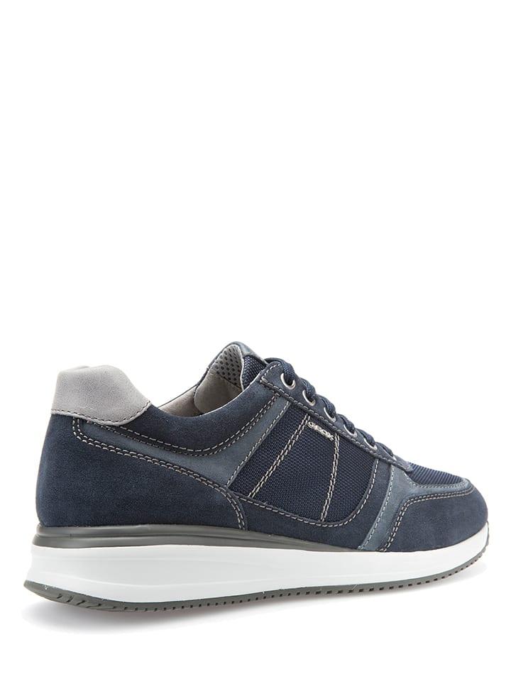 """Geox Leder-Sneakers """"Dennie"""" in Dunkelblau"""