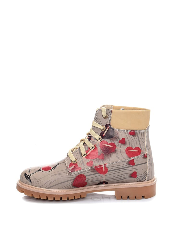 Streetfly Boots in Beige/ Bunt