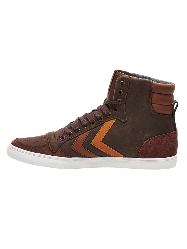 "Hummel Leder-Sneakers ""Stadil Duo Oiled High"" in Braun"