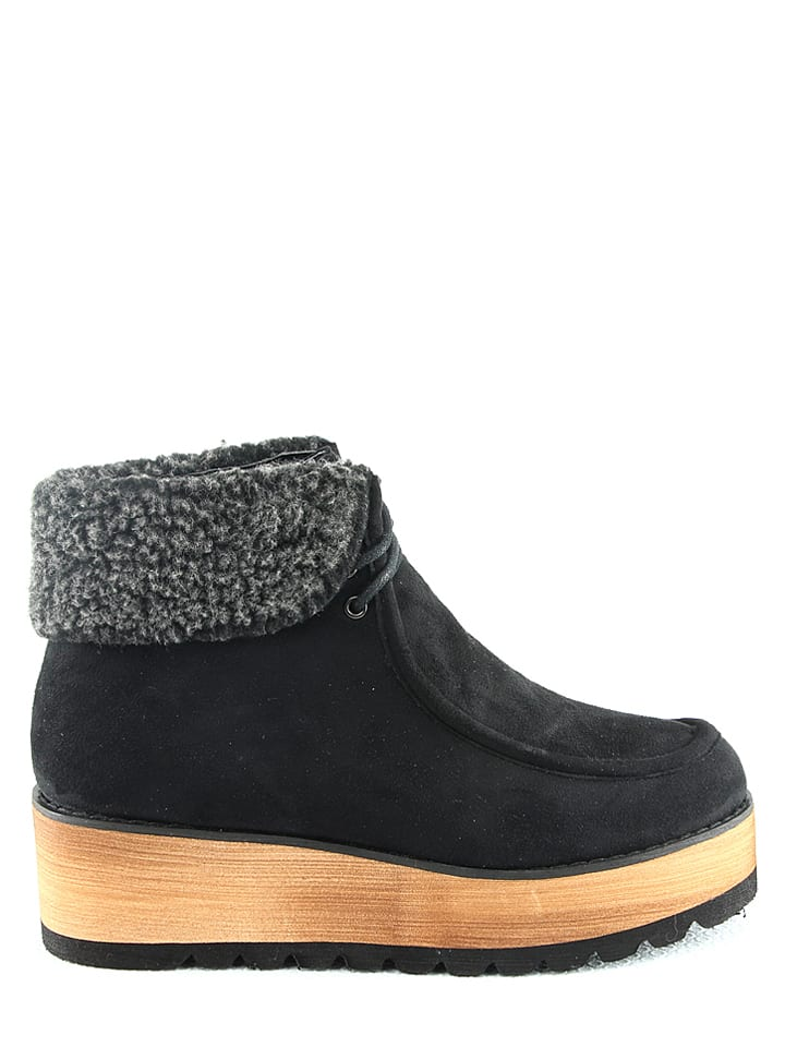 R and BE Boots in Schwarz