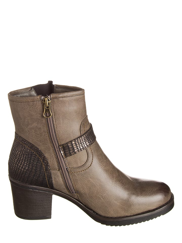 Enza Nucci Stiefeletten in Taupe