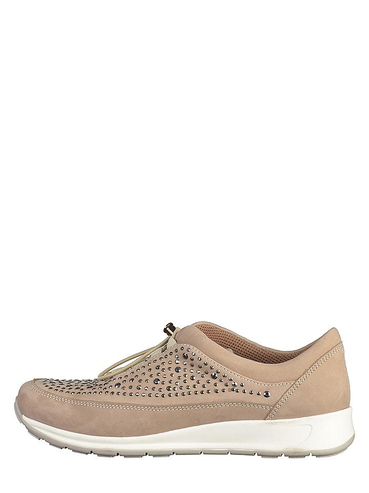 Ara Shoes Leder-Sneakers in Beige