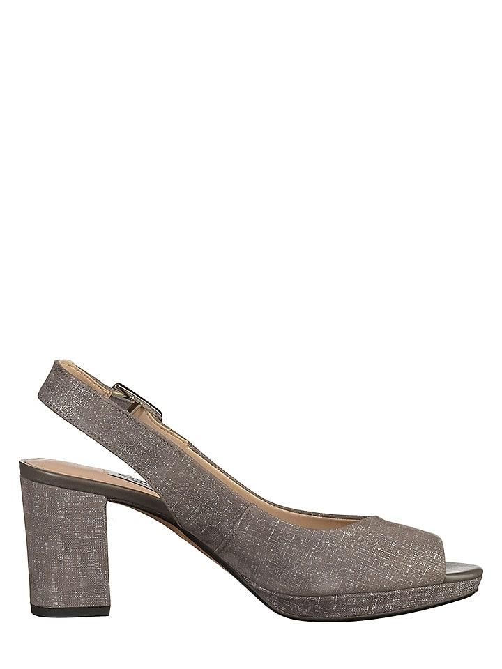 Clarks Leder-Sandaletten in Grau
