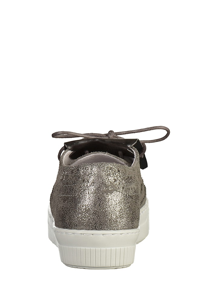 SPM Leder-Sneakers in Silber