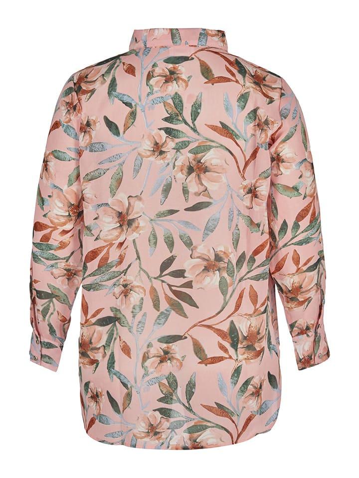 Zizzi Bluse in Rosa/ Bunt