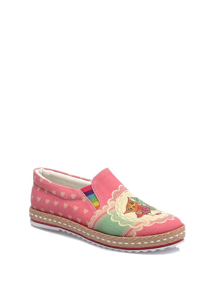 Streetfly Slipper in Pink/ Bunt