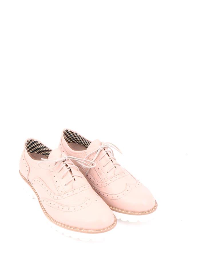 Zapato Leder-Schn眉rschuhe in Rosa