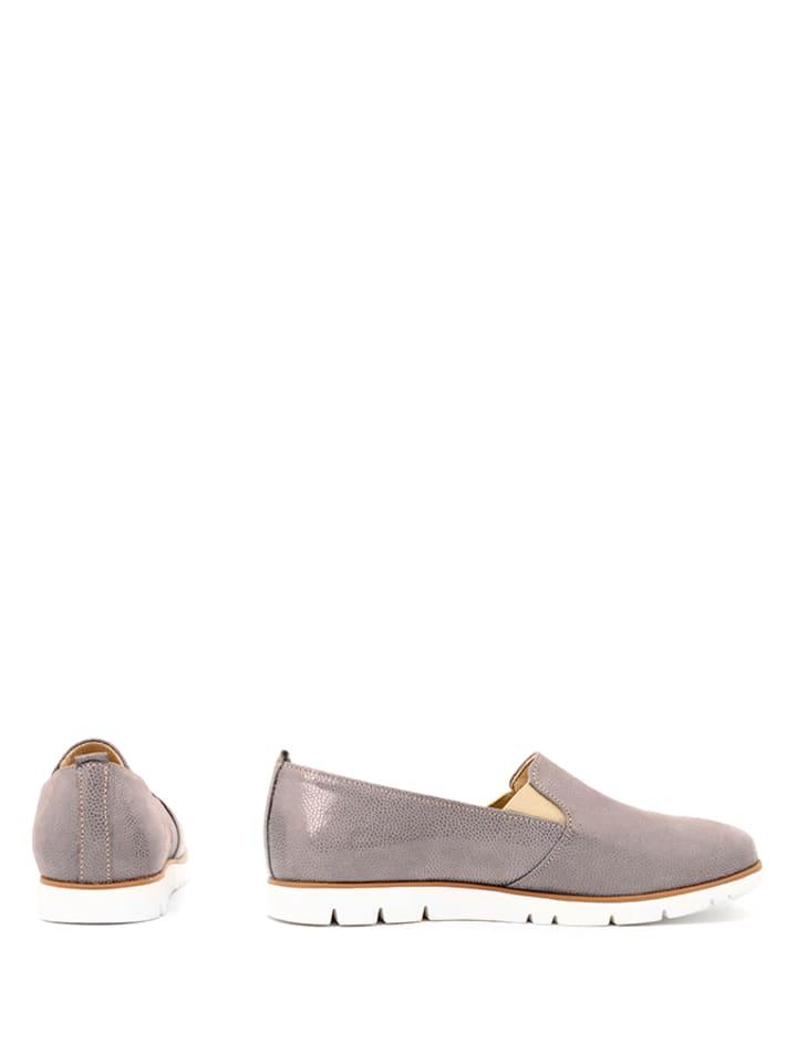 Zapato Grau Slipper Slipper Leder Zapato in Leder 7Zzpqwx