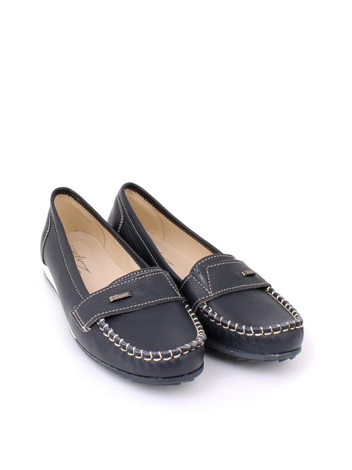 Zapato Leder-Mokassins in Dunkelblau