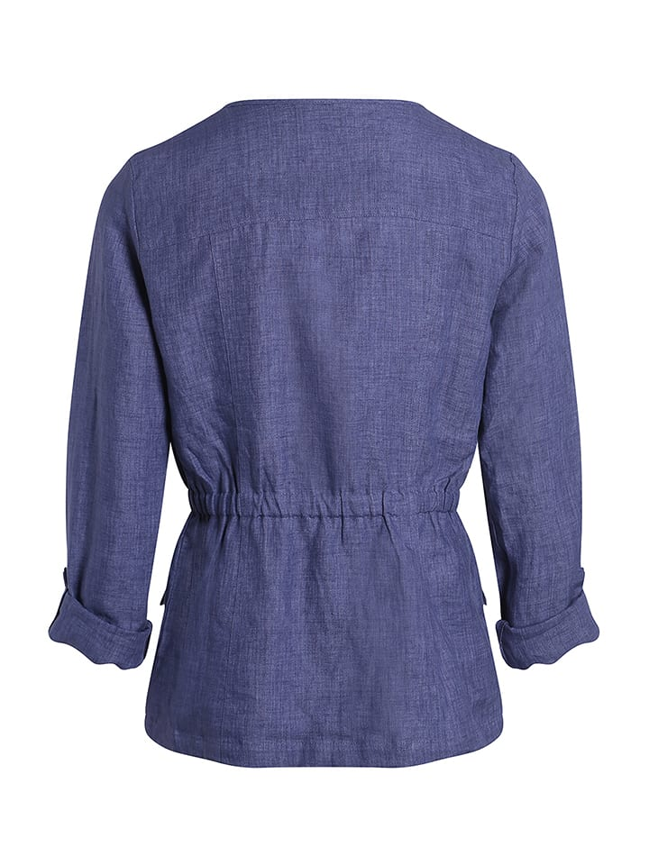 Scottage Leinen-Jacke in Blau