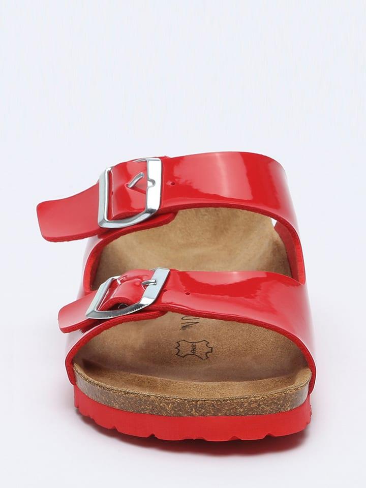 BACKSUN Pantoletten in Rot