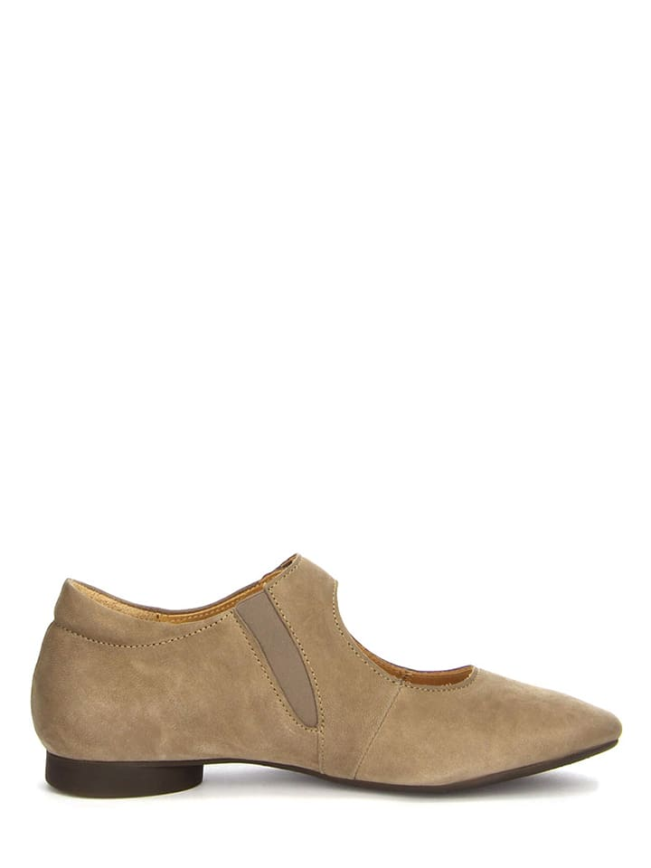 "Think! Leder-Ballerinas ""Guad"" in Taupe"