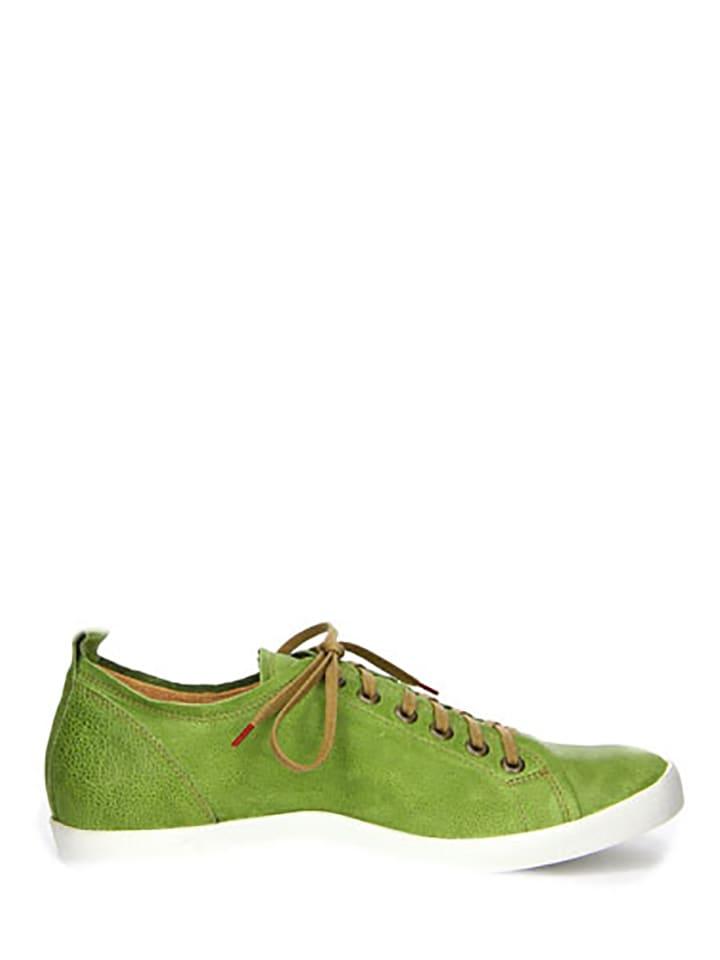 """Think! Leder-Sneakers """"Seas"""" in Gr眉n"""