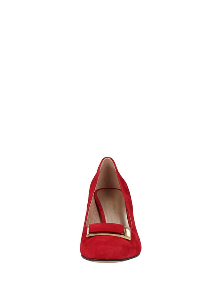 Leder in Roberto Roberto Pumps Rot Botella in Rot Pumps Botella Roberto Leder OTqfX8x5w8