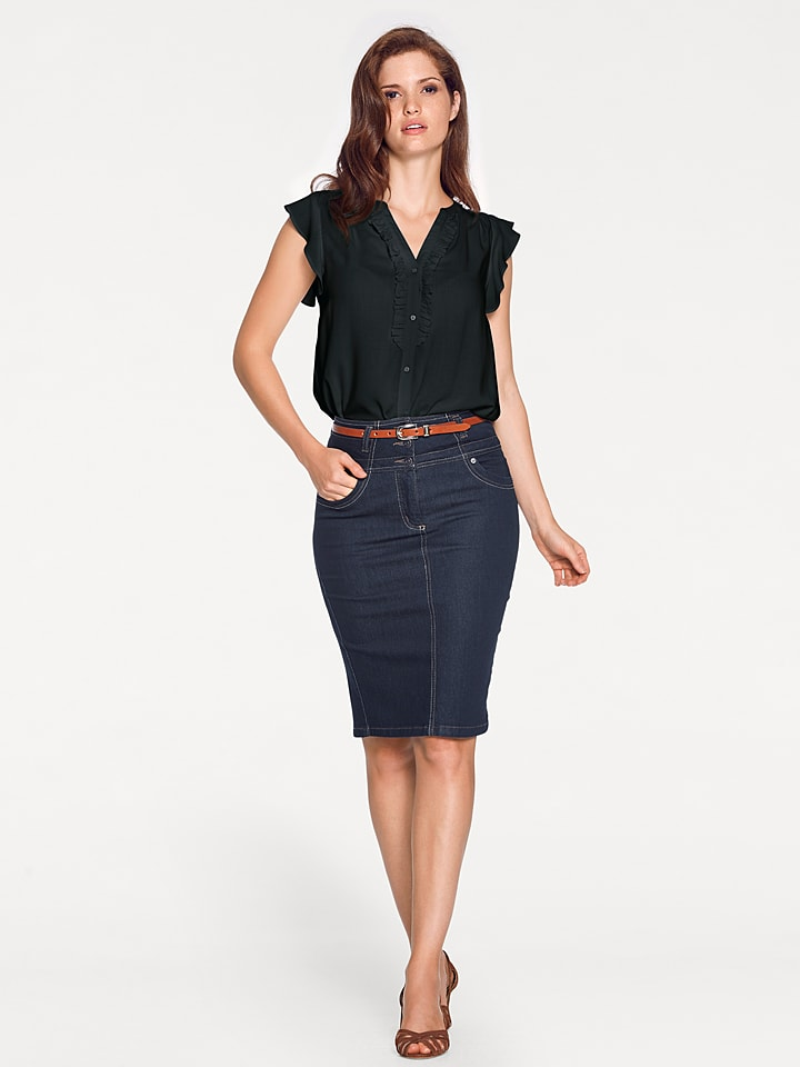 Ashley brooke by heine Bluse in Schwarz