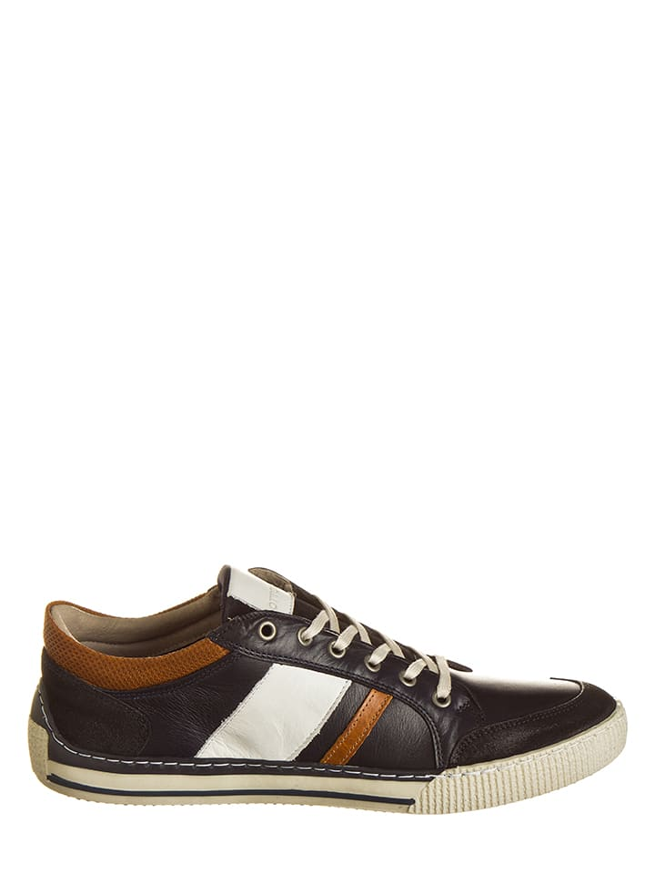 Otto Kern Leder-Sneakers in Schwarz