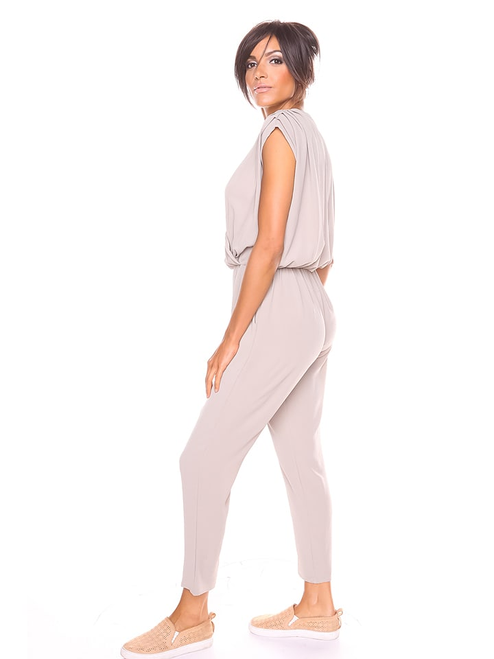 """S... with crystals Jumpsuit """"Lana"""" in Taupe"""