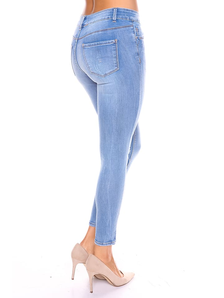 "S... with crystals Jeans ""Mado"" in Hellblau"