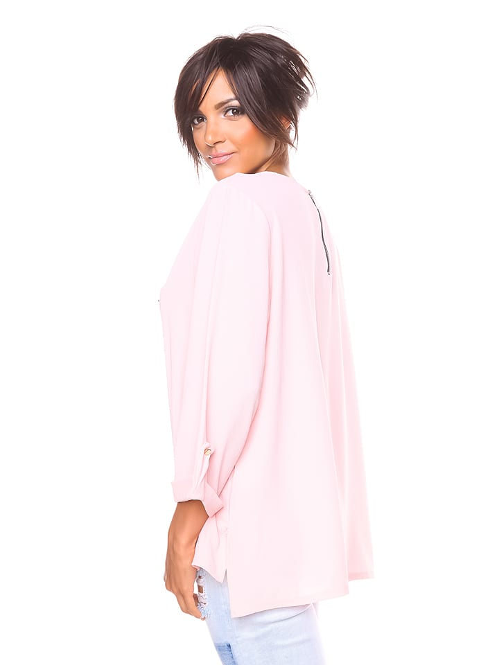 """S... with crystals Shirt """"Manon"""" in Rosa"""