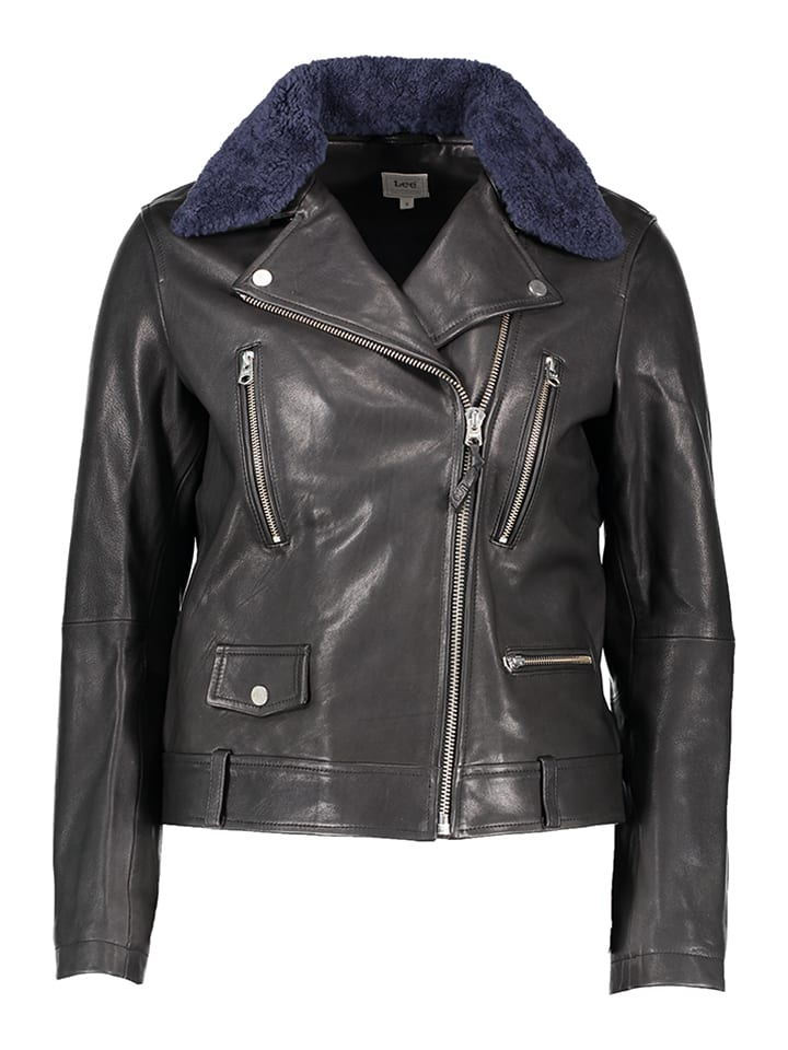 Leren Zwart Outlet Jas Leather Limango Lee Perfecto qIAHqd