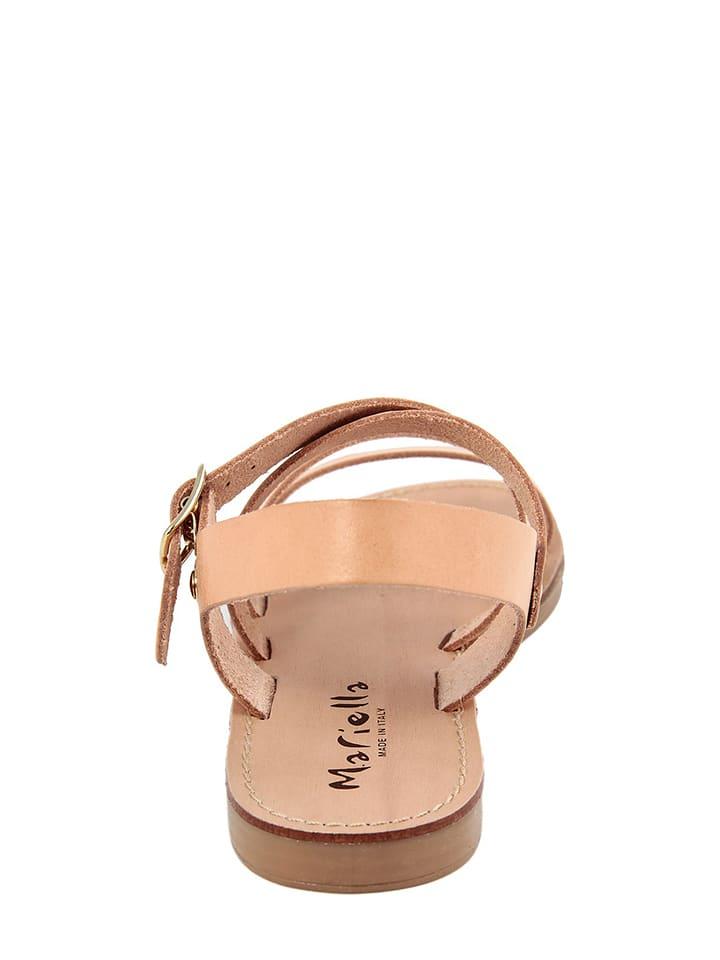 Mariella Leder-Sandalen in Beige