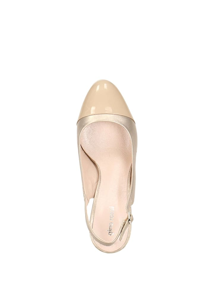Pumps in Rossi Gino Gino Leder Gino Beige Gold Beige Gold in Pumps Rossi Leder cqRPvAwqBU