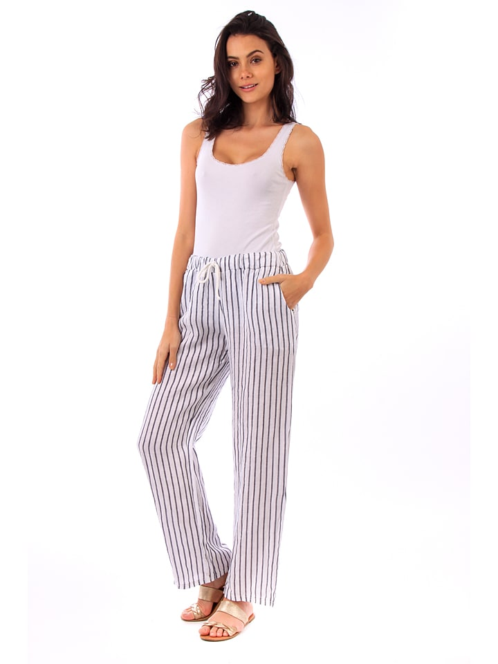 Lin Passion Leinen-Hose in Wei