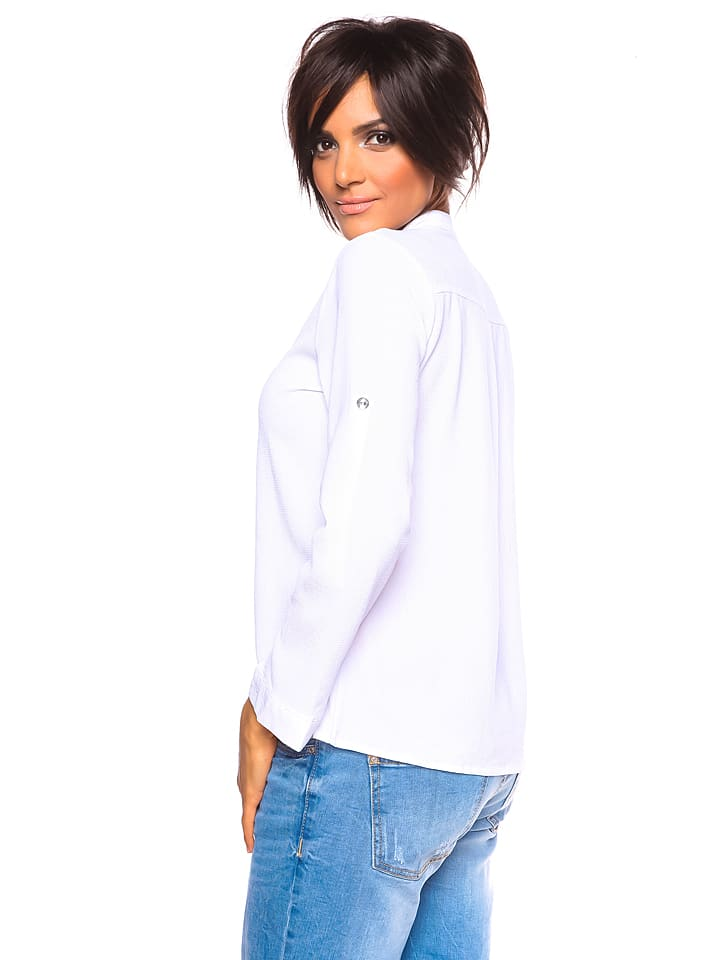 "Saint Germain Paris Bluse ""Christelle"" in Wei"