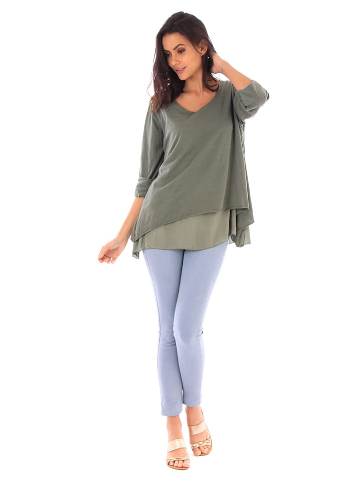Fille de Coton Shirt in Khaki