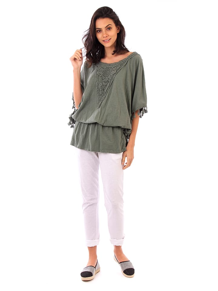 Fille de Coton Shirt in Khaki
