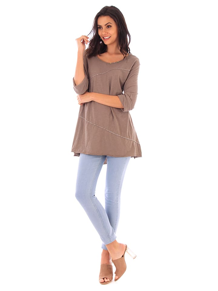 Fille de Coton Shirt in Taupe
