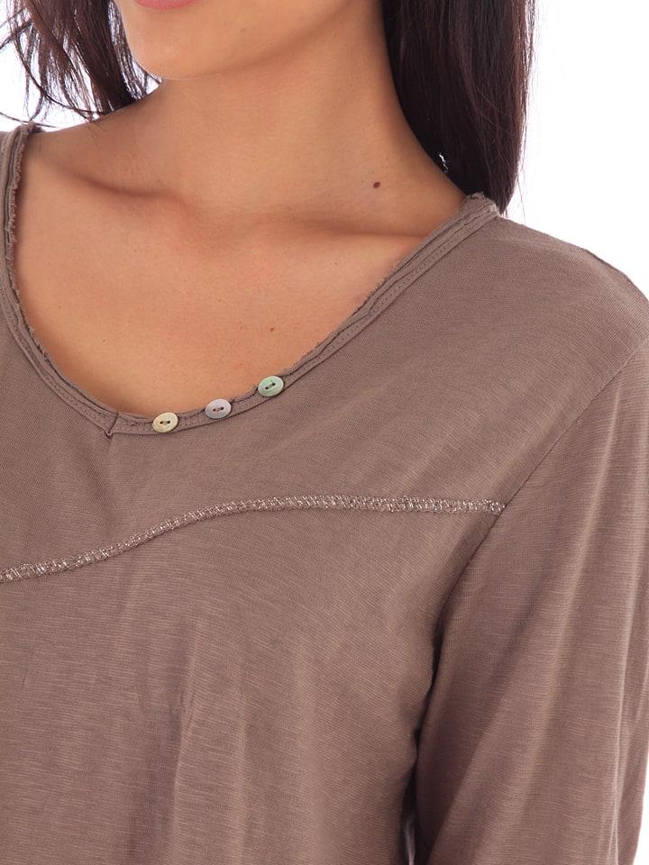 Shirt in Fille de Fille Coton de Taupe 66TI1q