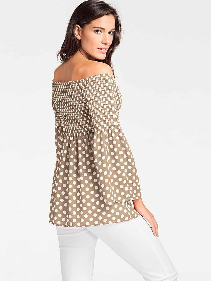 PATRIZIA DINI by heine Shirt in Beige/ Wei
