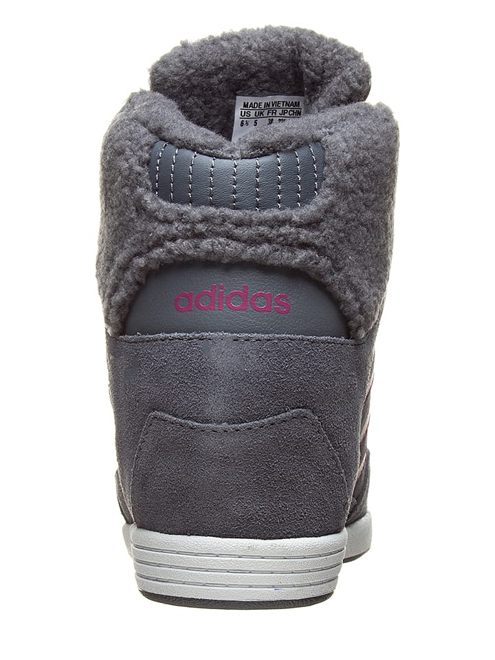 "Adidas Leder-Sneakers ""Super Wedge"" in Anthrazit"