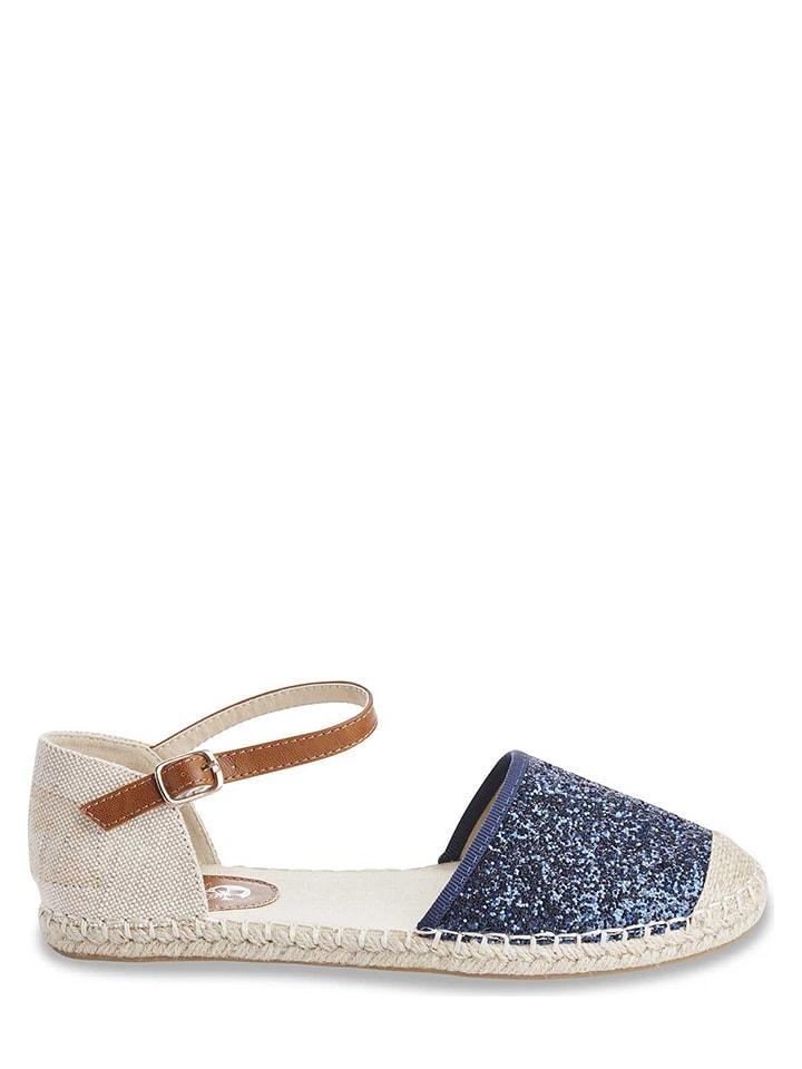 "Azur Sandalen ""Santis"" in Sand/ Blau"