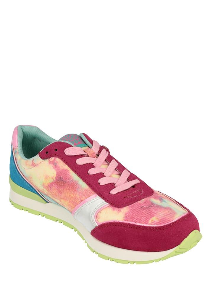 """Gioseppo Leder-Sneakers """"Lipari"""" in Pink/ Bunt"""