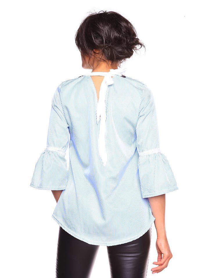 """La Belle Francaise Shirt """"Kelly"""" in Hellblau"""