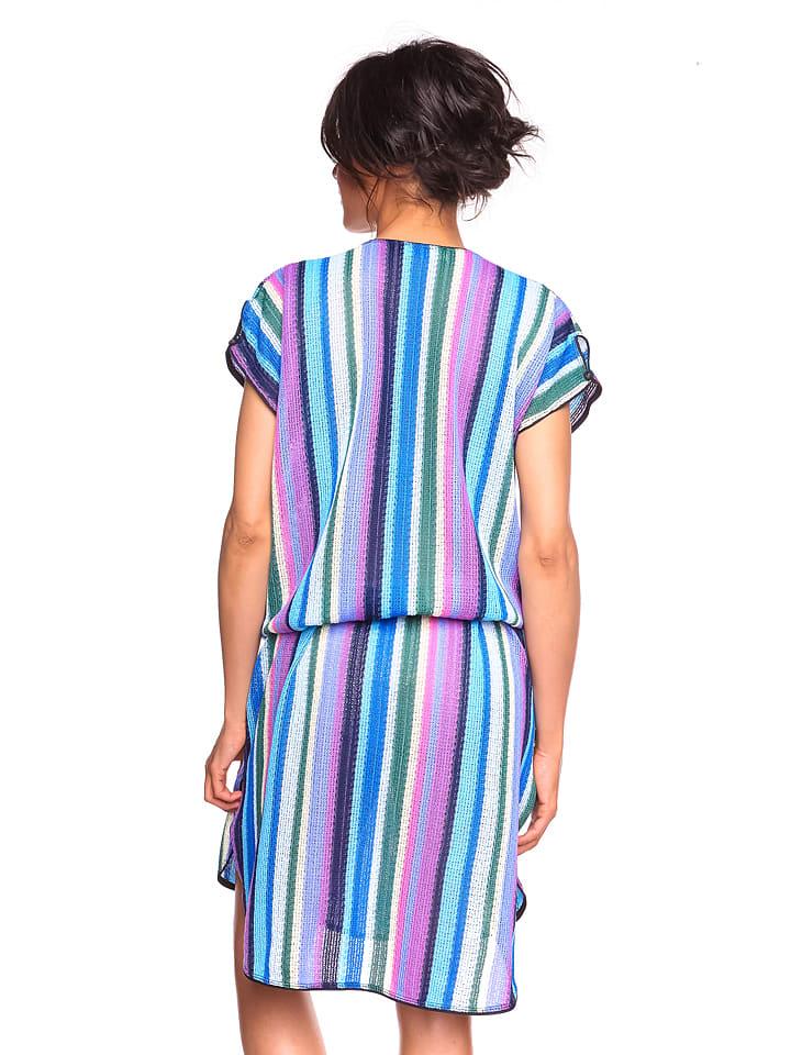 "La Belle Francaise Kleid ""Soleil"" in Flieder/ Bunt"