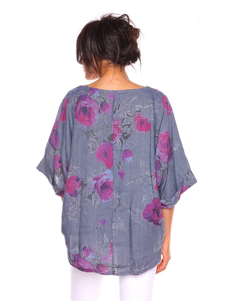 """Pur Lin Leinen-Shirt """"Laure"""" in Grau"""
