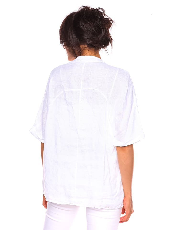 "Pur Lin Leinen-Shirt ""Sonia"" in Wei"