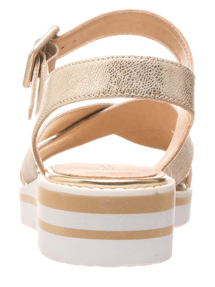 Caprice Leder-Sandalen in Gold