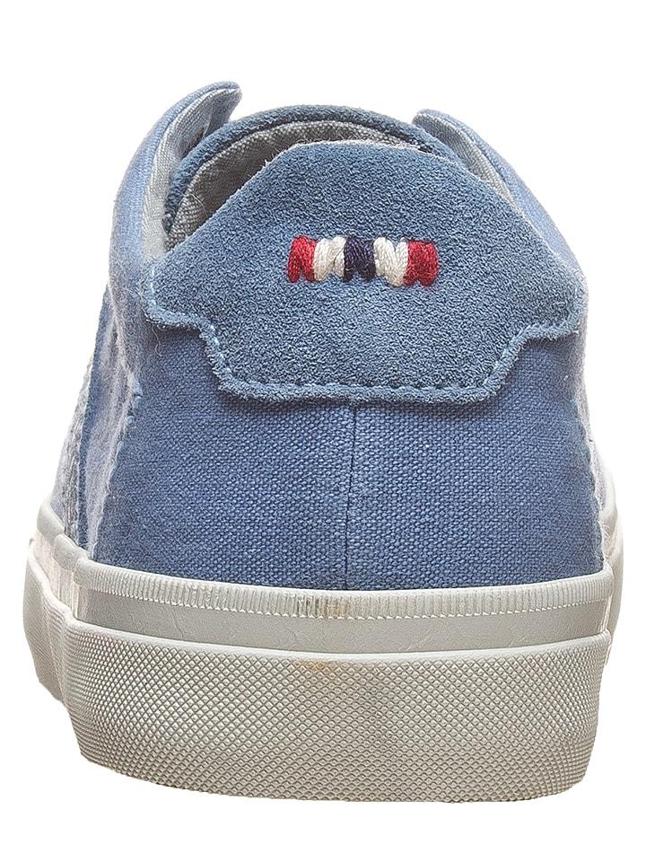 """Napapijri Leder-Sneakers """"Naomi"""" in Blau"""