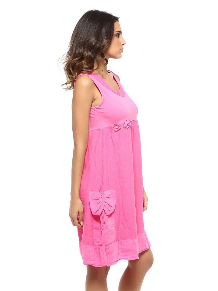 in PRETTY Rosa PRETTY Rosa LIN Kleid Kleid Leinen Leinen PRETTY Kleid LIN LIN in Leinen AWOxwxEqS