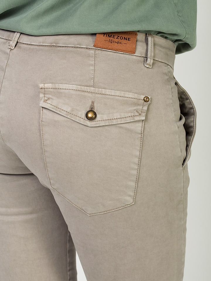 "Timezone Chino ""Cecil"" - Slim fit - in Grau"