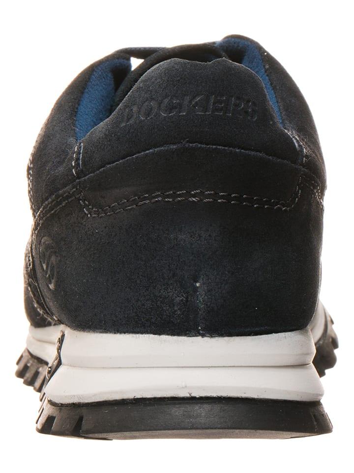 Dockers by Gerli Leder-Sneakers in Dunkelblau