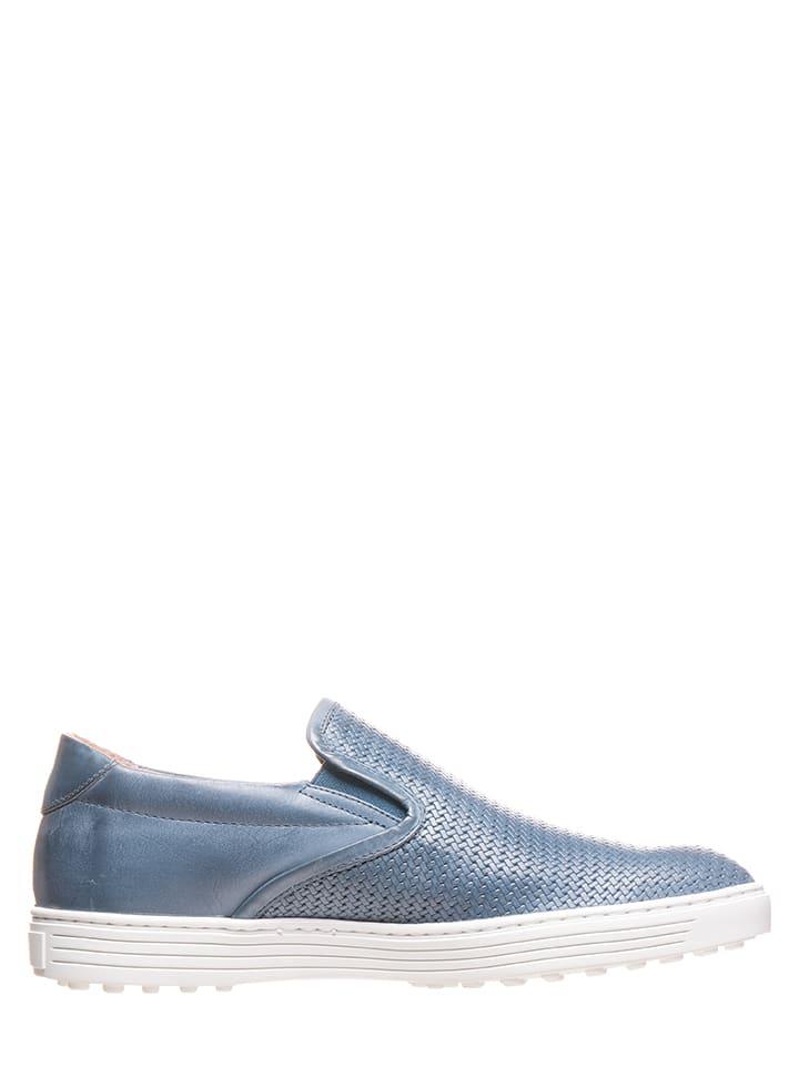 Otto Kern Leder-Slipper in Blau