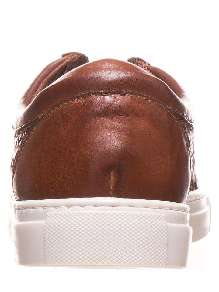 Otto Kern Leder-Sneakers in Hellbraun
